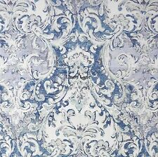 TAHARI 400tc QUEEN DUVET COVER SET COTTON SATEEN Floral Medallion LILAC BLUE NWT