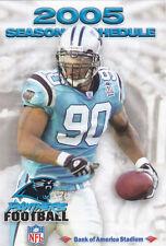2005 Carolina Panthers Football Pocket Schedule