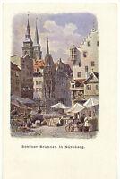 D NÜRNBERG, ca. 1910, ungebr. farb. Künstler-AK Schöner Brunnen (S. Soldan´sche
