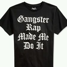 Gangster Rap Made Me Do It Rap Music Shirt Funny Party Cool Tee T Shirt S-3X