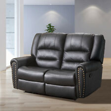 2 Seater Sofa Loveseat Chaise Couch Recliner Leather Living Room Furniture Black