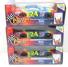 3 Kenner NASCAR Jeff Gorden #24 Dupont Chevy Winners Circle 1/24 Die Cast NIB