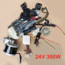 24V 350W Electric Bicycle Accessories Kits Geared Brush Motor Conversion New KPA