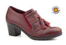 Zapato abotinado piel tacón tallas 36 a 41