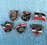 6 pcs Lot Air Force Luftwaffe Cross Army Eagle Navy Flag Navy German Pins Badges