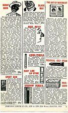 1926 small Print Ad of Mascaro Nose Putty Spirit Gum Burnt Cork Black Americana