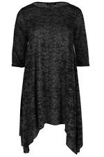Vestiti da donna tuniche nere con girocollo