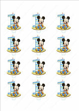 Novelty Mickey Mouse 1st Birthday Boy Stand Up Fairy Cake Cupcake Toppers Edible