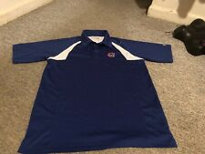 mens Chicago Cubs M polo shirt true fan blue white awesome