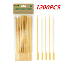 25CM Bamboo Paddle Skewers Wooden Skewer BBQ Kebab Meat Bulk Stick Catering
