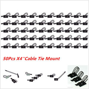50 Pcs 3M Clips Fastens Fixed Organizer for Car Repair Cable Wire  Arrange Clamp