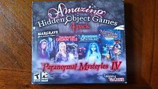 PARANORMAL MYSTERIES IV - 4 Pack Amazing Hidden Object PC Games Windows xp vista