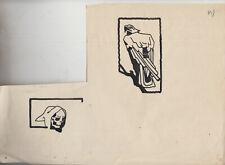 Originalzeichnung Hans Steiner Karikatur Simpliccisimus Der Tod und Reichsadler