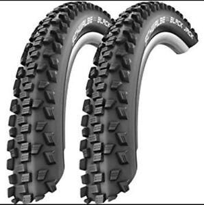 "Pair /Single Schwalbe Black Jack MTB Knobbly Bike Tyres -16,20,24,26"" All Widths"