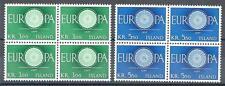 Iceland 1960 Sc# 327-28 set Europa blocks 4 MNH