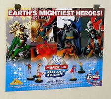 DC Comics JLA Heroclix poster 1:Batman/Superman/Flash/Aquaman/Deadman/Lobo/Robin