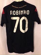 Robinho #70 AC Milan Black Size 4 (Adult Small) Jersey Emirates P-Soccer