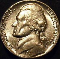 1942 Jefferson Nickel Choice/Gem BU Uncirculated