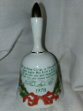 Collectible Bell Helen Steiner Rice, Christmas 1978