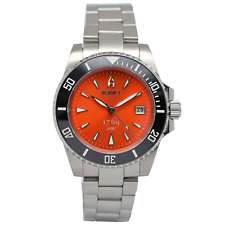 Aquacy 1769 Hei Matau Men's Automatic 300M Orange Dive Watch 1769.O.B.S   Miyota