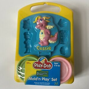 2000 Play Doh Dragon Tales Mold'n Play Set PBS VINTAGE Cassie - New Sealed