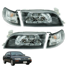 Pair Front Head Light Lamp Clear LH RH Trim To Toyota Corolla Ae100 1992 - 1996