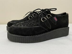 T.U.K. Men's Black Suede Creepers 1.5 Inches Outsole Size 8