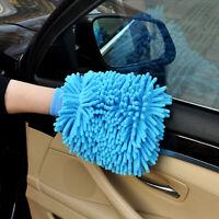 1 jumbo blue car wash washing microfiber chenille mitt cleaning glove Wash Mitt