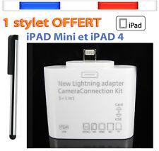 Adaptateur 6 en1 USB Connexion Kit SD TF Lecteur Carte mémoire iPad Air, 4, mini