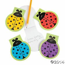 24 LADYBUG NOTEPADS IN ASSORTED COLORS PARTY GIFTS U WILL LOVE THESE
