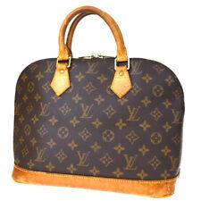 Authentic LOUIS VUITTON LV Alma Hand Bag Monogram Leather Brown M51130 67MD263