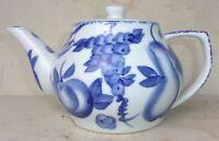 Vintage NANTUCKET Co China Blue & White Porcelain Tea Pot