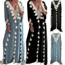 Women Summer Bohemia Loose Long Dress Tassel Hollow Out Dress Beach Party Dress