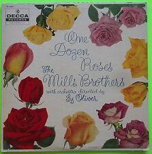 Mills Brothers ONE DOZEN ROSES Decca LP DL 8491 1957 VG My Wild Irish Rose
