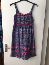 Bnwt Mantaray Navy Ss Embellished Aztec Sleeveless Dress Size 12