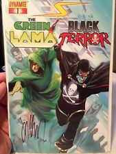 Project: Superpowers#1 Green Lama & Black Terror Signed By Writer Jim Krueger