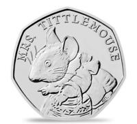 Mrs. Tittlemouse 50p Brilliant Uncirculated Beatrix Potter 2018 PERFECT COIN