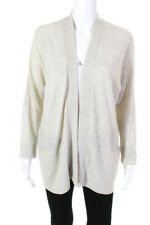 Vince Womens Cashmere Dolman Sleeve Open Front Cardigan Beige Size Small P