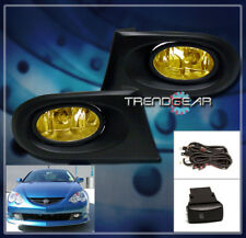 2002 2003 2004 ACURA RSX COUPE 2DR JDM BUMPER DRIVING YELLOW FOG LIGHTS+HARNESS