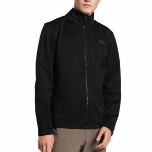 The North Face Mens Apex Canyonwall Hike Black Full Zip Fitted Fleece Jacket