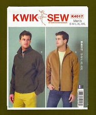 Mens Jackets Sewing Pattern~Raglan Sleeves (Sizes S-XXL) Kwik Sew 4017