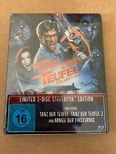 Evil Dead Trilogy Blu Ray Steelbook New And Sealed German Import Tanz Der Teufel