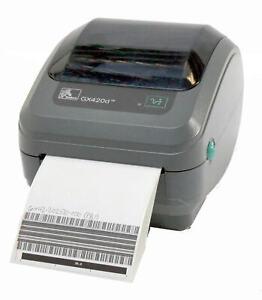 Zebra GX420D GX42-202510-000 Direct Thermal Label Printer USB Parallel 203DPI