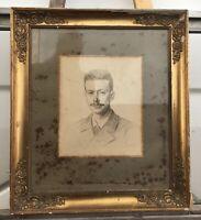 Antiker Bilderrahmen Goldstuck Vintage Empire Biedermeier innen 43,4 x 37,4 cm