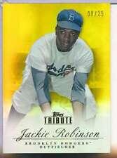 2012 TOPPS TRIBUTE JACKIE ROBINSON #92 GOLD 08/25 HOF BROOKLYN DODGERS AA2198