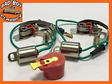 MGB 1976-81 Rubber Bumper 45D Points Condenser x2 + RED ROTOR