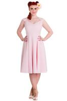 S Pink Dress Polka Dot Cotton Eveline Cotton Summer Bridal Tea UK 10
