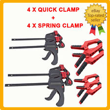 8 Pcs Quick Release Bar F Grip Clamp Spring Clamps Set