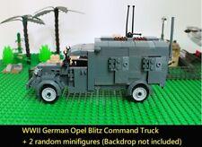 WWII German Minifigure Opel command truck World War 2 vehicle MOC WW2 car