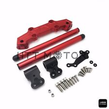 Clip-On Adapter Plate & Handlebars Set For Yamaha MT-09 FZ-09 2013-2016 Red